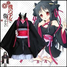 Anime Machine-Doll wa Kizutsukanai Yaya Cosplay Furisode Japan Kimono Costume