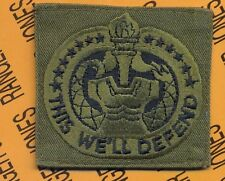 "US Army Drill Instructor ""Pumpkin"" badge cloth patch OD Green & Black"
