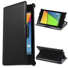 Black PU Leather Stand Folio Case Cover For 7 inch Google Nexus 7 2nd Gen 2013