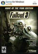 Fallout 3 Game of the Year Edition PC GOTY Brand New Factory Sealed Fast Ship