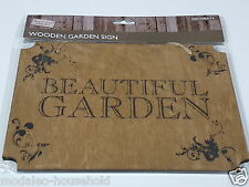 Brand New Decorate  Wooden Garden Sign for your Beautiful Garden W:25 / H17cm