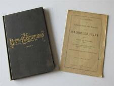 Old 1892 Masons BOOK OF MISSOURI MASONIC CONSTITUTIONS & BY-LAWS with Supplement