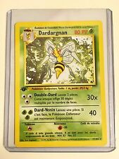 Pokemon DARDARGNAN (BEEDRILL) 1st Edition FRENCH Base 17/102 Rare MINT