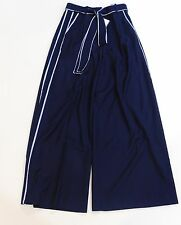 NWT J Crew for Net-A-Porter Wide Leg Pants with Striped Piping 2 F6719 $228 Sz 2