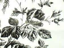 LOT OF 4 CONTACT PAPER SHELF LINER BLACK + WHITE ROSE TOILE ADHESIVE WALL DECOR