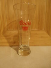 "Coors Banquet Beer 7"" Tall Pilsner Glass"