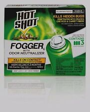3ct Hot Shot FOGGER Multi Insect Killer INDOOR Roach Flea Ant Spider Bugs Flies