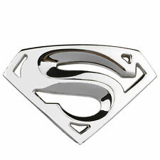 Silver 3D Superman Chrome Metal Car Motorcycle Logo Sticker Badge Emblem Decals