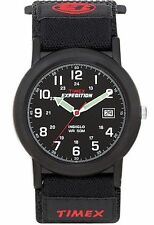 "Timex T40011, Men's ""Expedition Camper"" Black Wrapstrap Watch, Indiglo, T400119J"