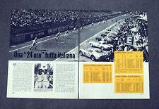 AC84 - Clipping-Ritaglio -1963- 24 ORE DI LE MANS TUTTA ITALIANA