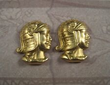 Raw Brass Roman Soldier Stampings (2) - Rat3250 Jewelry Finding