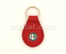 Alfa Romeo Spider Red Leather Keychain New