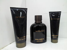 Dolce & Gabbana Intenso 4.2oz Eau de Parfum Spray Men New 3 PCS GIFT SET