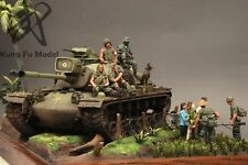 Built 1/35 US Marine M48A3  in Vietnam 1968 Diorama(Ready for ship)