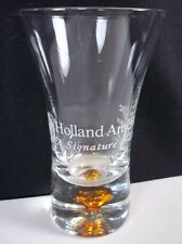 Holland America Lines tapered shot glass orange bubble base white lettering