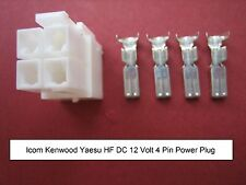 Icom kenwood yaesu 4 pin dc power plug IC7000 TS-480 FT-9000 FT-450