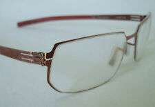 ic! Berlin RENE Featherweight Brown Eyeglasses Frame 55-18 GERMANY Medium