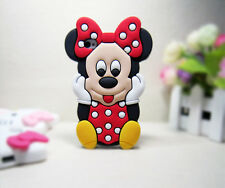 Cover CUSTODIA per IPHONE 4 4s Silicone MINNIE TOPOLINA 3D/Silicon Case 3d