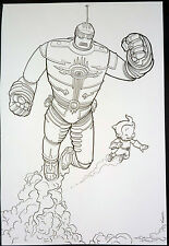 GREAT FLYING ROBOTS BY GEOFF DARROW - RUSTY + THE BIG GUY
