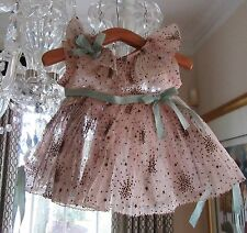 "Vintage 1930s Ideal Shirley Temple Tagged ""Starburst"" Dancing 18"" Doll Dress"