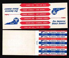 85019) Luftpost Zettel Air Mail Label USA PAA booklet Heftchen 40er Jahre