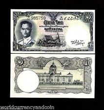 THAILAND 1 BAHT P74 1955 KING BHUMIBOL UNC RARE SIGN 34 CURRENCY MONEY BANKNOTE