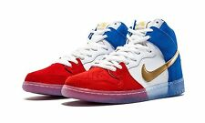 NEW Nike Dunk High Premium SB France Red White Blue Gold Size 4 Youth 313171-674