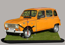 MODEL CARS, RENAULT 4L SAVANE -06 with Clock