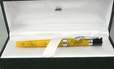 Monteverde Jewelria Yellow & Chrome Fountain Pen - Stub Nib - New - 50% Off