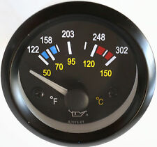 "Oil Temperature Gauge 2"" Analog Temp 122-302F, 50-150C"