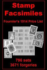 FOURNIER'S 1914 PRICE LIST Of 3671 Forged Stamps Facsimile Forgery - CD