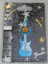 YANKEE STADIUM NY HARD ROCK CAFE HRC FENDER BLUE GUITAR SPRAYED METAL SERIES PIN