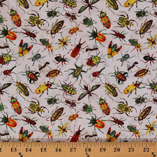 Rainforest Romp Beetle Bugs Insects Cricket Cotton Fabric Print by Yard D461.15