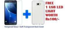 Transparent BACK COVER AND 2.5D TEMPERED GLASS FOR SAMSUNG GALAXY J7 PRIME