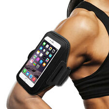 ZTE ZMAX PRO Black Sports Band Arm Holster Running Workout Cell Case Cover