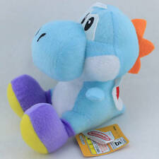 "Super Mario Bros Blue Yoshi Character Plush Toy Nintendo 6"" Stuffed Animal Doll"