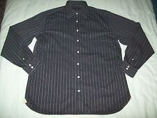 Ben Sherman Purple long sleeved shirt with pink & white stripes size 16.5 (42)