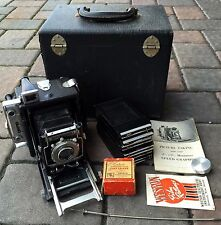 VINTAGE MINIATURE GRAFLEX SPEED GRAPHIC PRESS CAMERA W/ CASE & ACCESSORIES