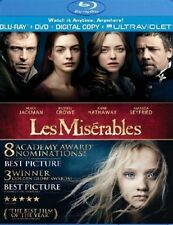 LES MISERABLES New Sealed 2 DVD Set Hugh Jackman Russell Crowe Anne Hathaway