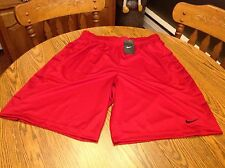 Nike Men's Basketball Shorts NEW Red Black Athletic Gym Size XL