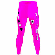 Wrestling Bret Hart Style Mens Fancy Dress Costume Party Leggings Hitman WWF WWE