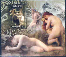 GUINEA BISSAU NUDES PAINTINGS ADOLPHE BOUGUEREAU   S/S MINT NH