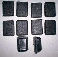 40mm x 30mm Black Plastic End Caps Pack of 10