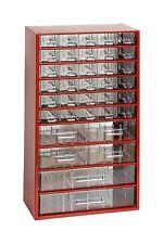 Kleinteilemagazin mit 36 Schubladen Werkstattmagazin Sortimentskasten rot