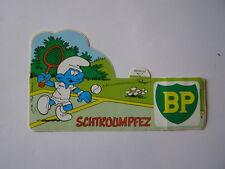 autocollant automobile BP schtroumpf