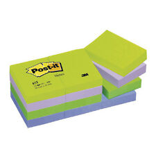 3M POST-IT STICKY NOTES / 38 x 51mm / 12 PAD PACK / DREAM COLOURS / 653MT