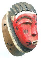 Art Africain Tribal - Ancien & Authentique Masque du M'Blo Baoulé - 26 Cms +++++