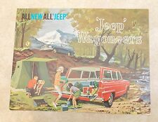 Vintage 1962 Kaiser JEEP WAGONEER Sales Brochure With Colors, Accessories, etc.