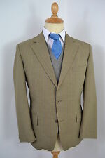 VINTAGE 1960s WHITEHEADS ENGLISH MADE GREEN WOOL POLY 2 PIECE SUIT LARGE 42 SH
