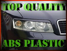 AUDI A4 B6 2000-2004 HEADLIGHT BROWS EYELIDS EYEBROWS ABS PLASTIC TRIMS TUNING